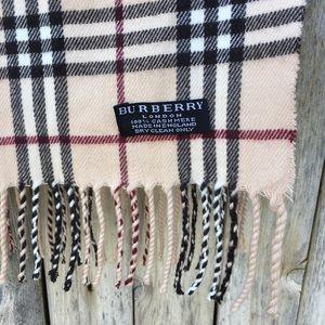 Burberry Accessories - Burberry Tartan Plaid 100% Cashmere Scarf Camel